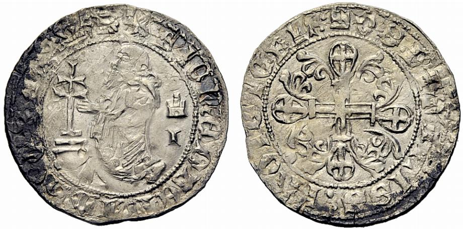 Средневековая французская монета 4 буквы монеты гонконга фото