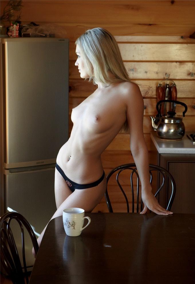 Teen topless kitchen — 5
