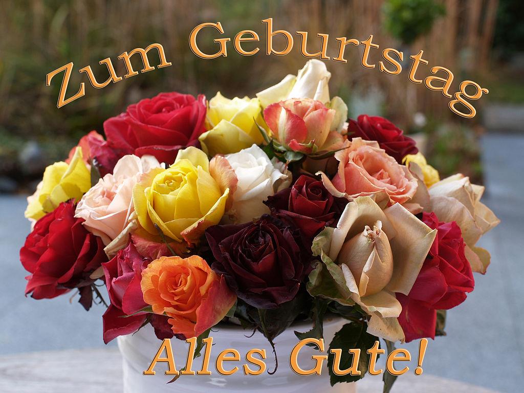 Днем, открытка с днем рождения на немецком девушке