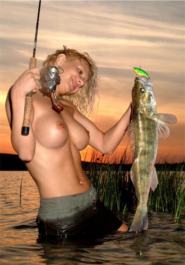 Fly fishing nude girl #9
