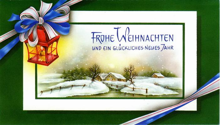 Поздравления с немецким рождеством на немецком языке