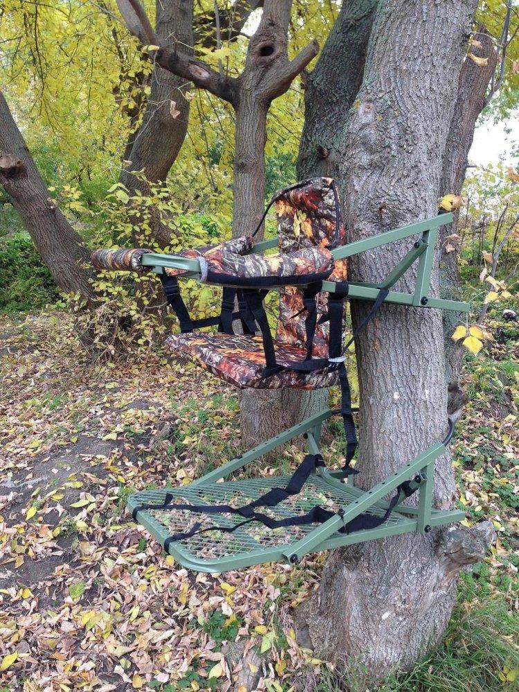 Переносная засидка на дерево своими руками 52