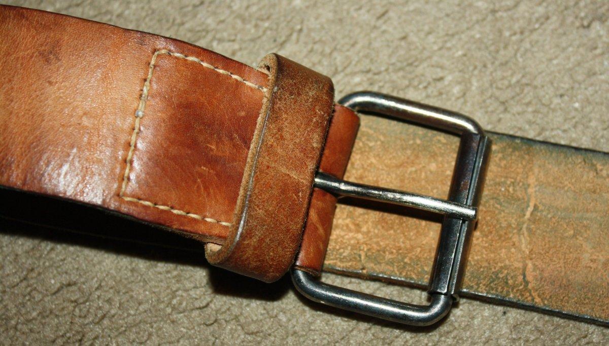 Кожаный солдатский ремень ркка ремень бундесвера кожаный