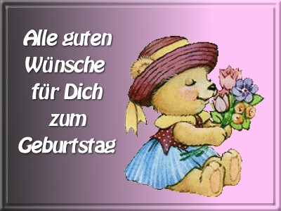Поздравления с днем рождения девушке на немецком языке