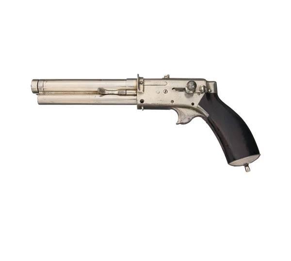 Neobichnii_pistolet_s_tremya_magazinami_neizvestnogo_konstruktora-1.jpg