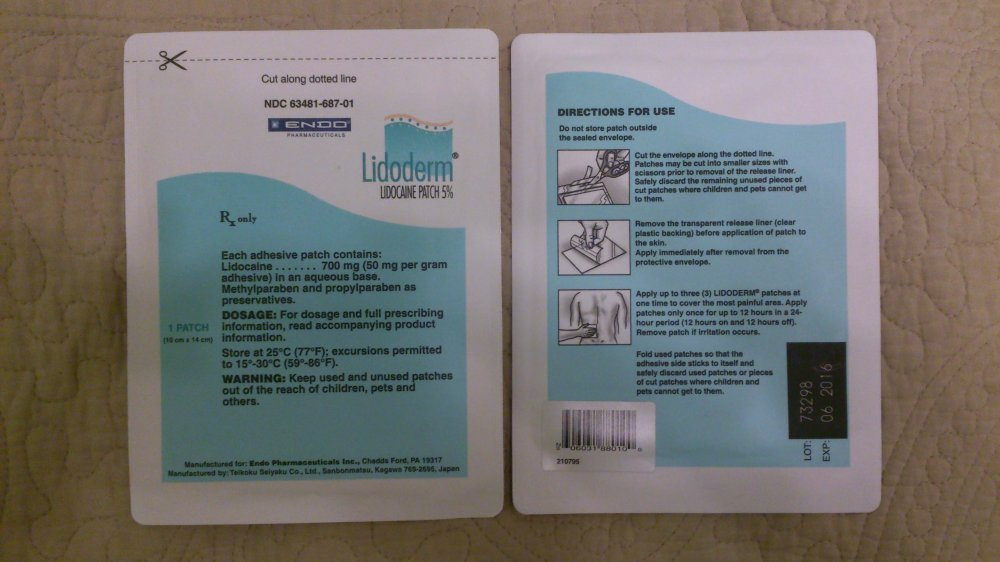 lidocaine patch for bruised ribs