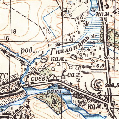 Карта Новоград-Волынского Укрепрайона