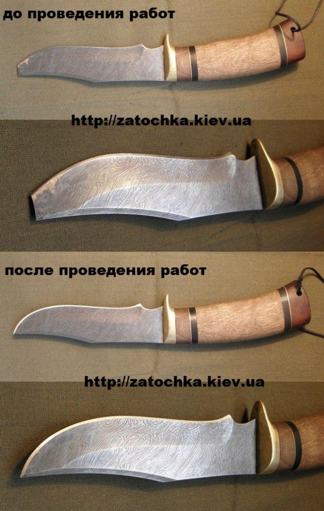 Заточить охотничий нож своими руками 94