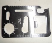 Pocket Survival Credit Card Multi-Tool (11 in 1)