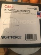 Прицел Nightforce ATACR 4-16x42 F1 ZeroH 0.1Mil сетка Mil-R с подсветкой