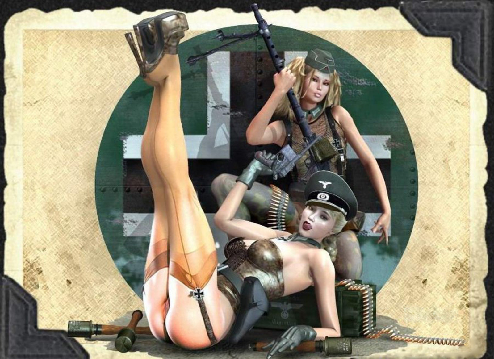 3d cartoon girl soldier erotic pics nackt image