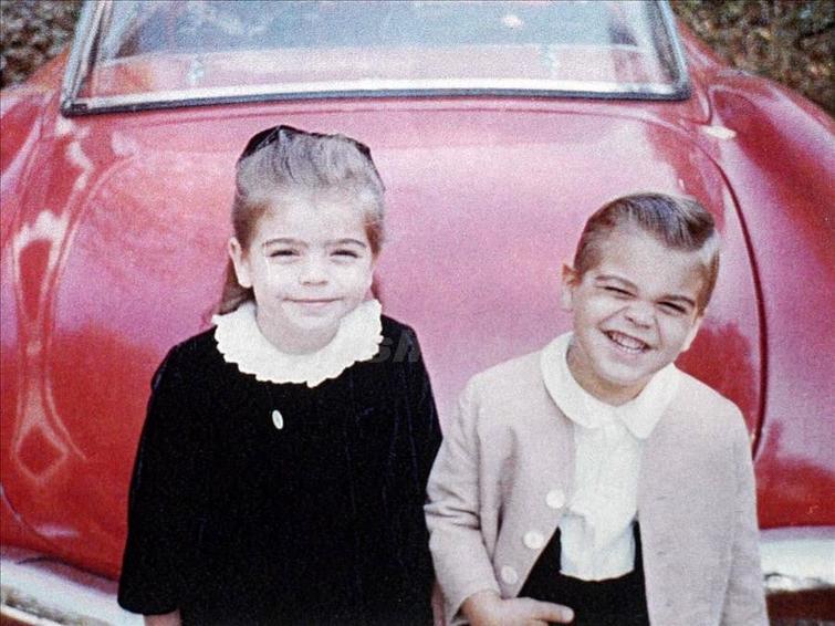 Джордж Клуни с сестрой, 1965 год
