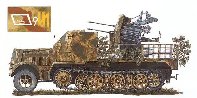 9 из ремонтного подразделения танкового полка с трейлером на буксире, март 1943 г