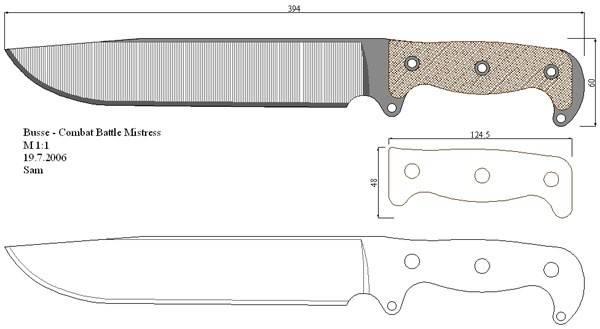 Как сделать нож своими руками чертеж