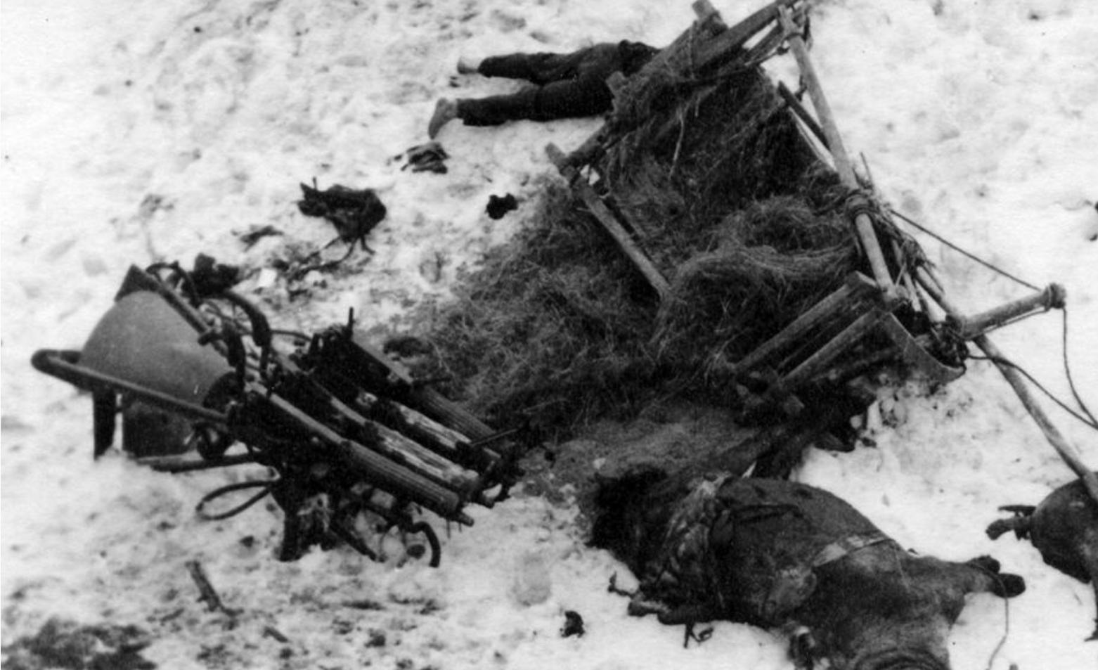 Павшие бойцы на поле боя. фотографии времен второй мировой в.