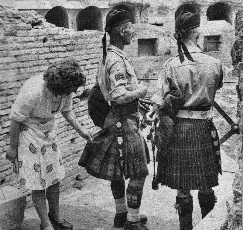 Шотландские стрелки в Италии. 1944 год.